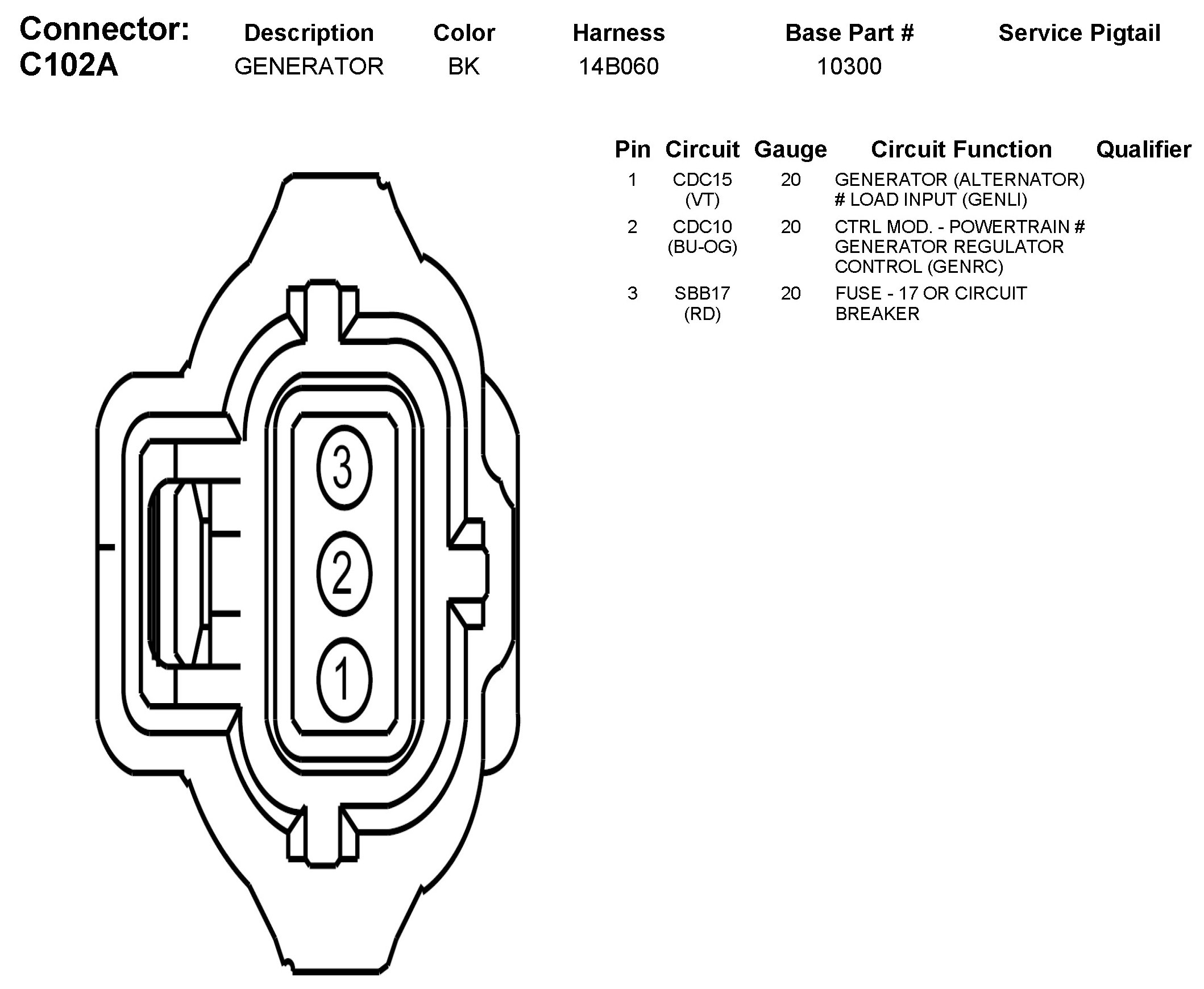 2011FordFusionAlternatorConnectorC102A 2006 mazda 3 fusion alternator wiring mazda 3 alternator wiring diagram at crackthecode.co