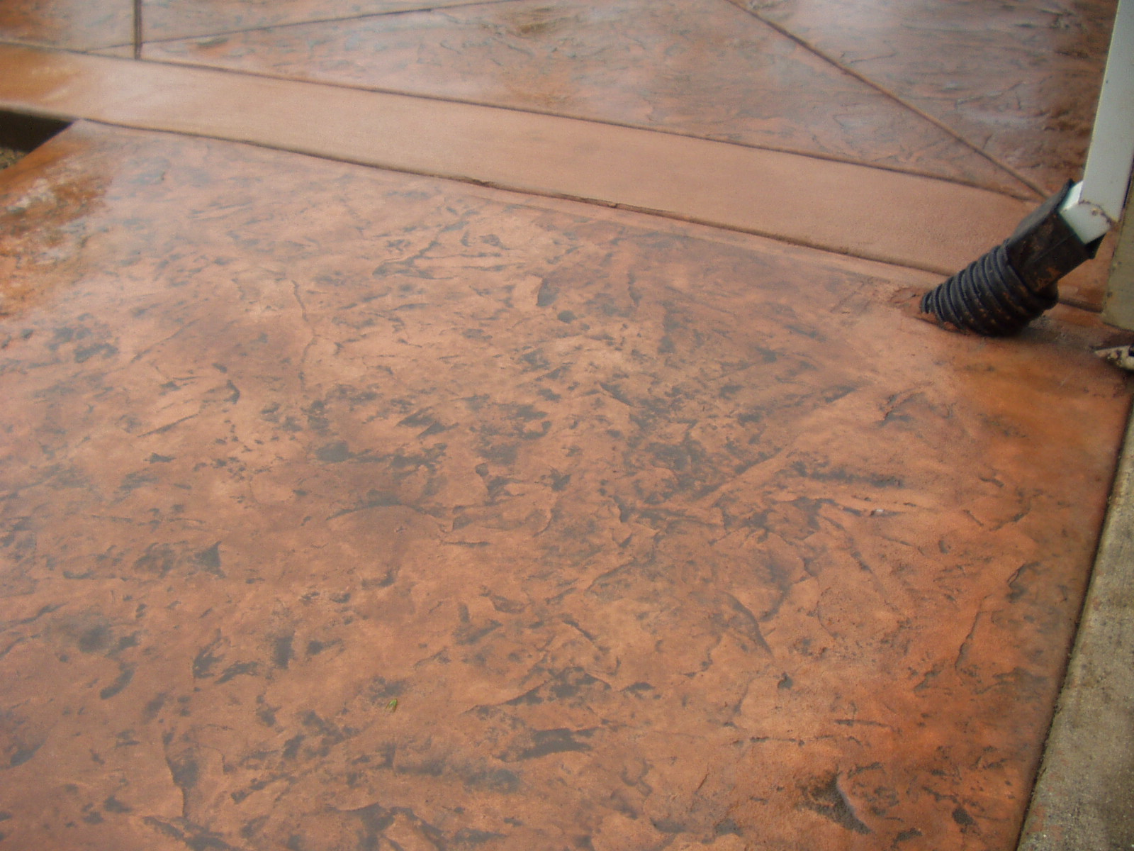 Slate Patio Slabs >> Stamped and Colored Concrete Patios Project